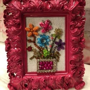 Other - Pretty In Pink Floral Arrangement In Frame